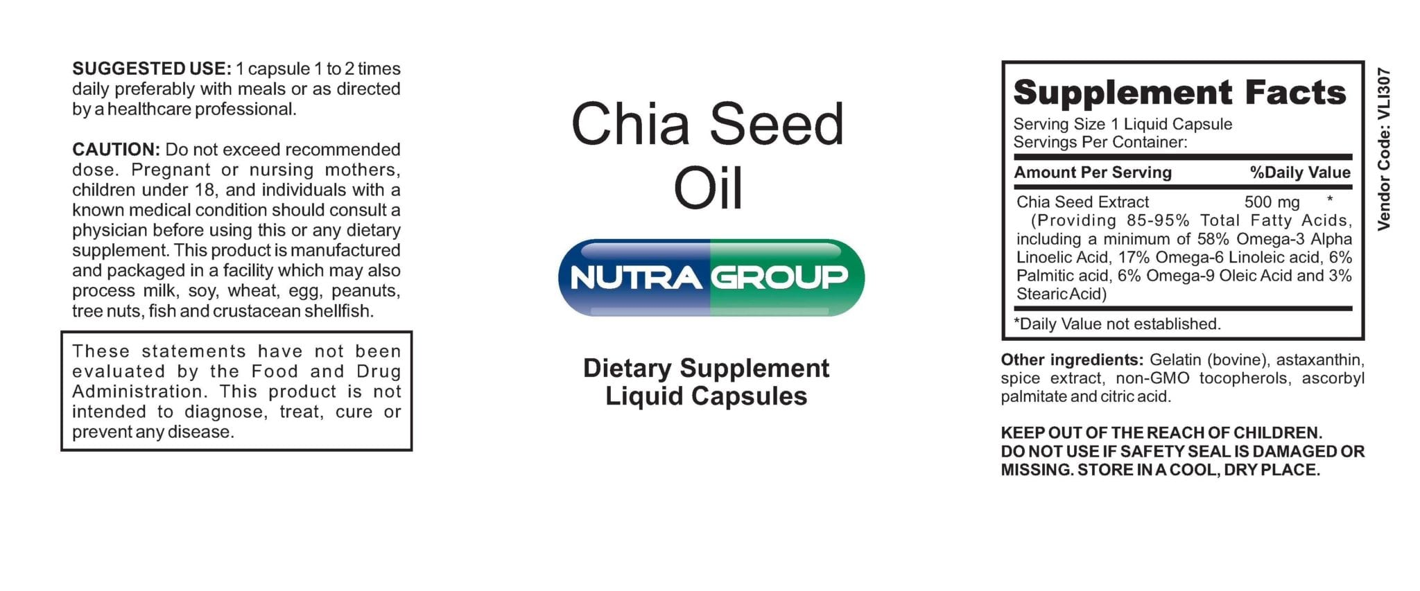 Private Label Chia Seed Oil
