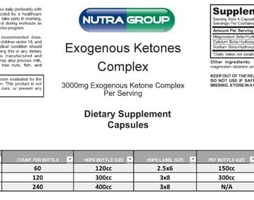 Private Label Exogenous Ketones