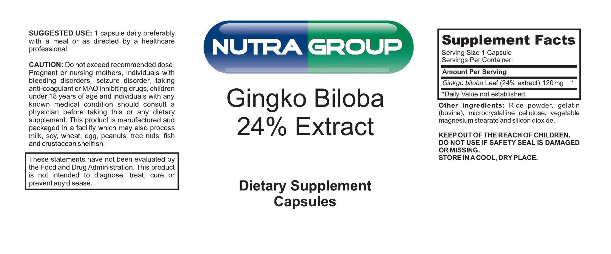Private Label Ginko Biloba Extract