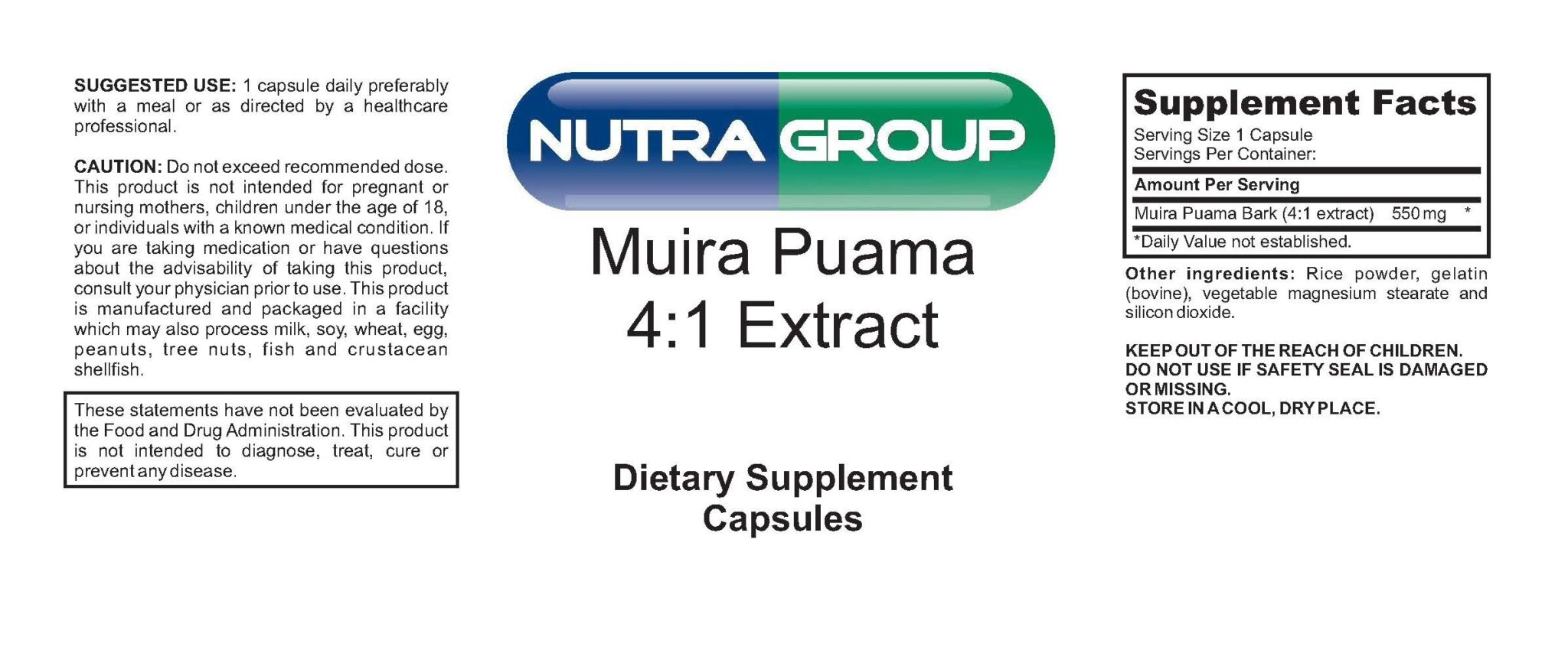 Private Label Muira Puama Extract