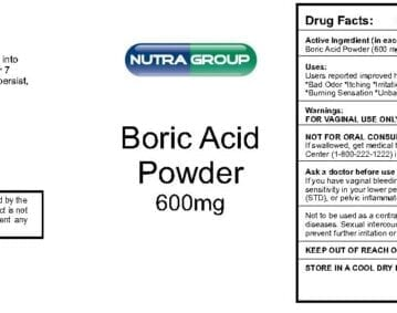 Private Label Boric Acid Powder Suppositories