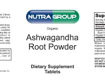 Private label organic Ashwagandha root powder supplement