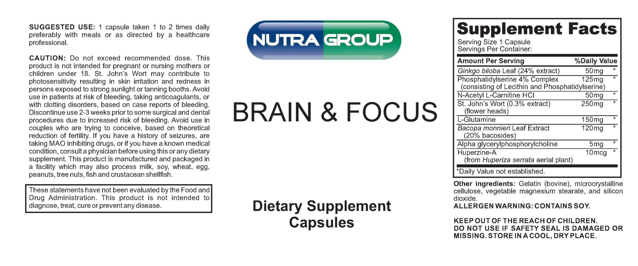 Private label Brain & Focus supplement
