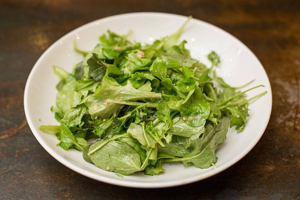 peppery salad with ginger