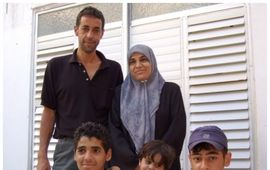 Ismail Khatib and part of his family