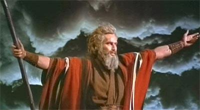 Charlton Heston as Moses