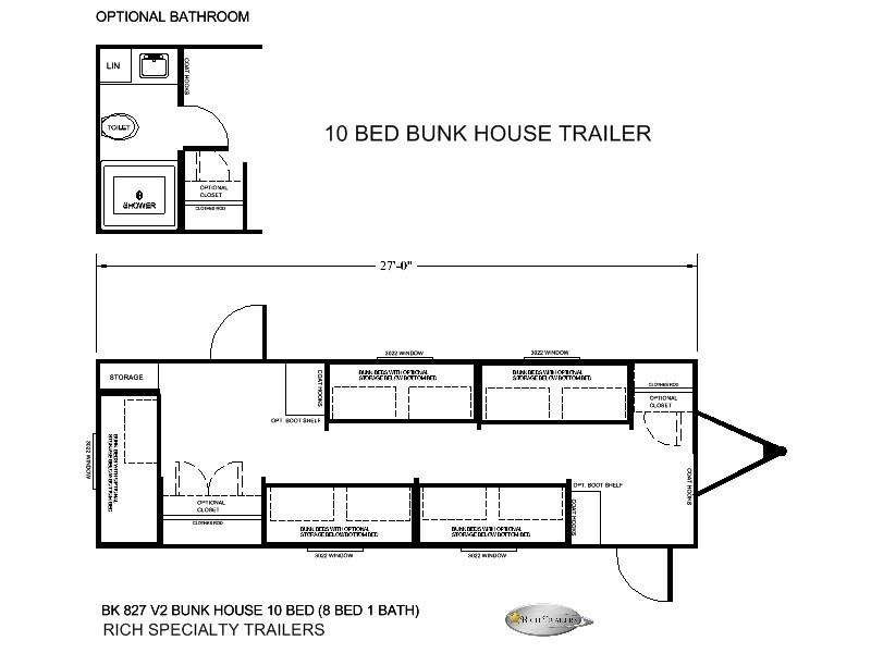 10 MAN BUNK BED TRAILER HOUSE
