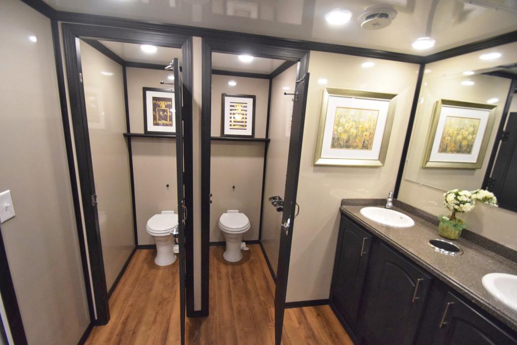 firefighter restroom trailer