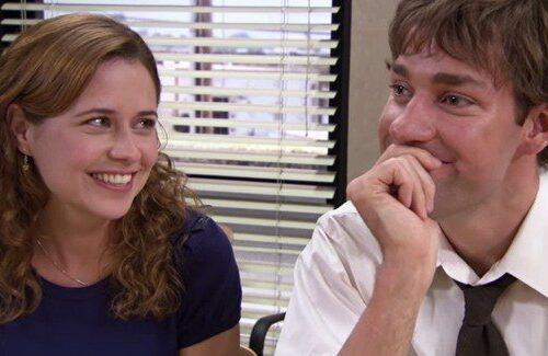 Pam (Jenna Fischer) and Jim Halpert (John Krasinski) from NBC's The Office
