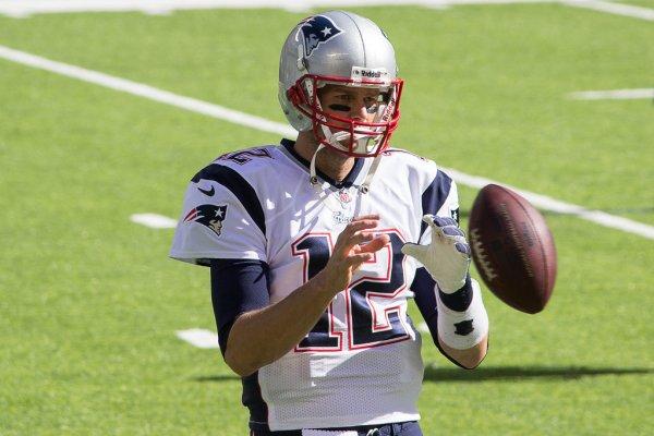 Todd Brady Catches Football