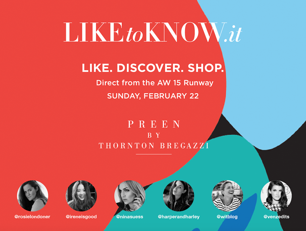 Preen by Thornton Bregazzi for Liketoknow.it Instagram