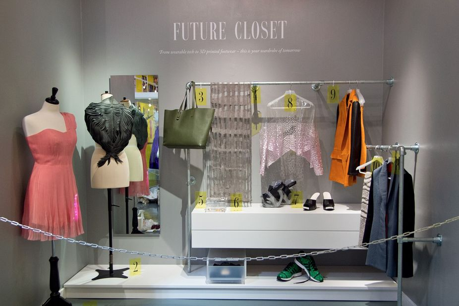 The Future Closet installation by The Future Laboratory for #Grazia10