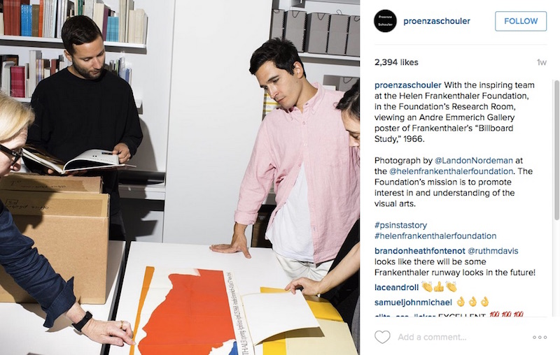 Proenza Schouler AW15 behind the scenes Instagram visual diary