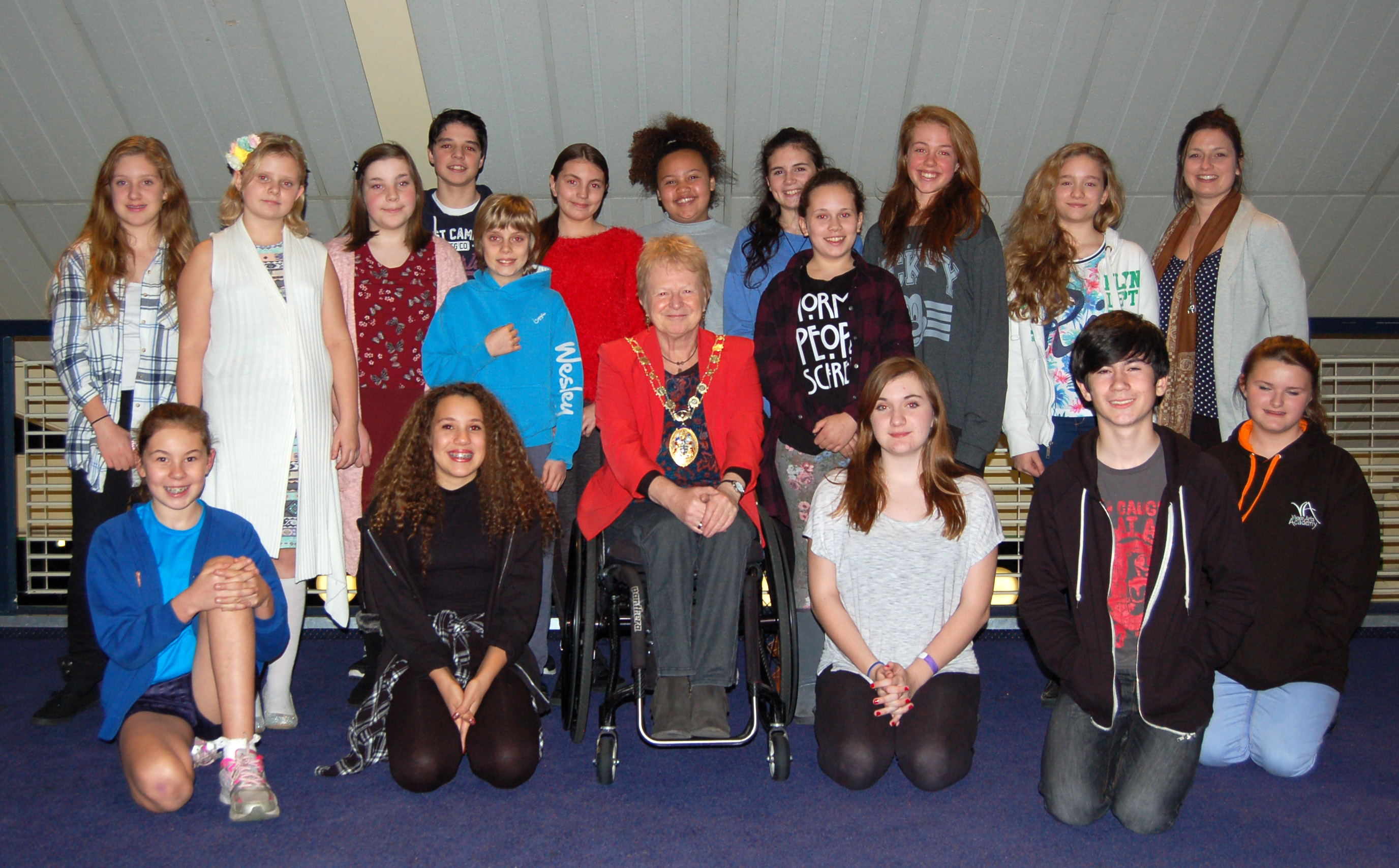 Councillor Cheshire visits The Hawth Youth Theatre