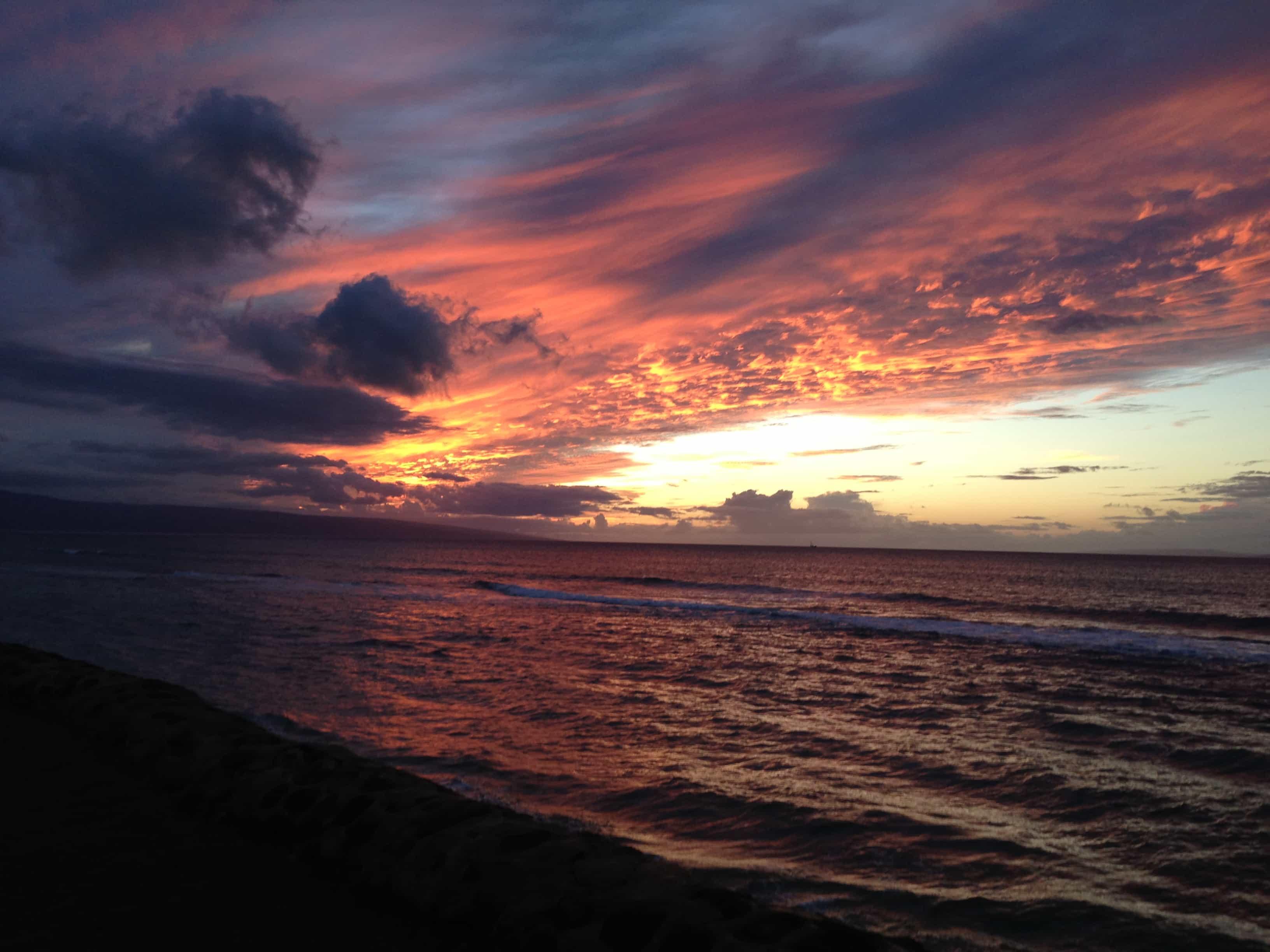 Papakea Resort - sunset