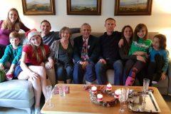 2019 - Christopher de Chazal family...From left Vanessa, Thomas, Isabel, Toby, Thelma, Christopher, Oscar, Melanie, Clara, Anya