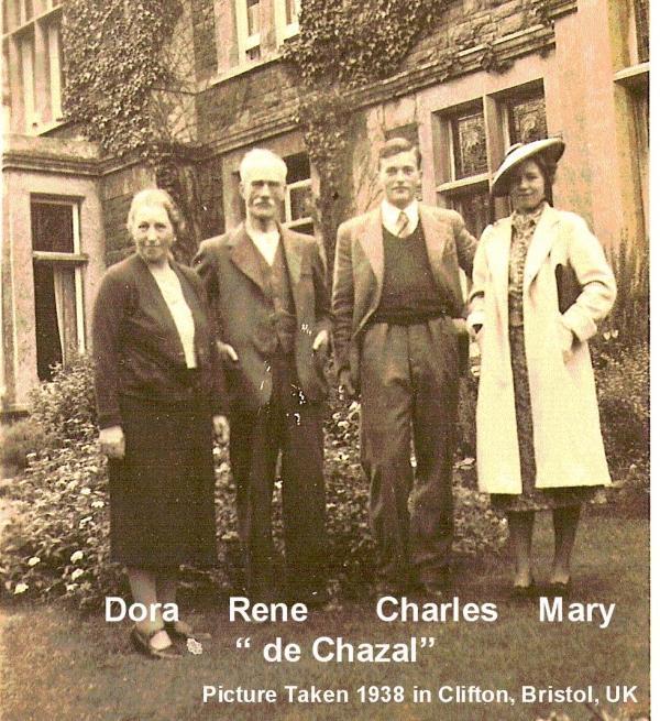 Dora, Rene, Charles & Mary de Chazal 1938