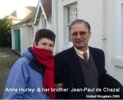 Anne Hurley and Jean-Paul de Chazal