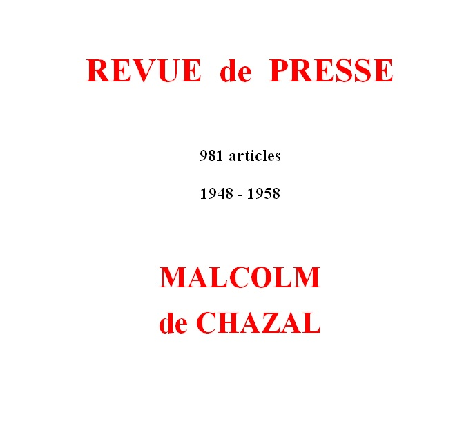 Malcolm de Chazal – Articles de presse – Press articles