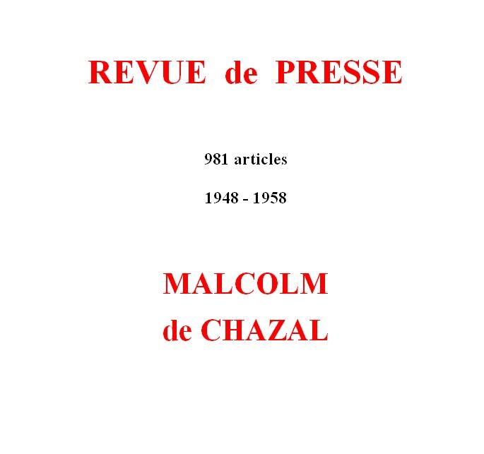 Malcolm de Chazal – Articles de presse – Press articles