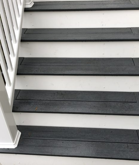 Timbertech Amazon Mist Stairs and Radiance Rail in white