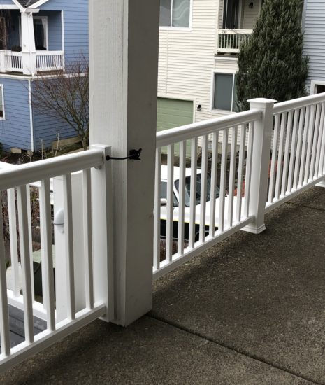 Timbertech Radiance Rail in white