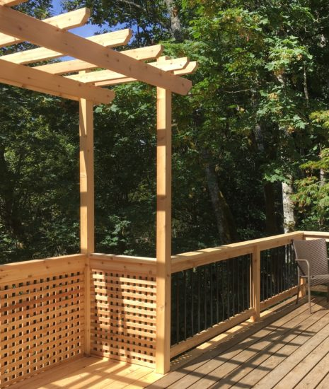 Deck Extension with Privacy Screen and Cedar & Aluminum Rail