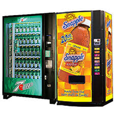7up and Snapple vending machine options