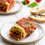 Lasagna Roll Ups with Vegan Ricotta and Spinach
