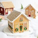 Gingerbread House with Sugar Wreaths