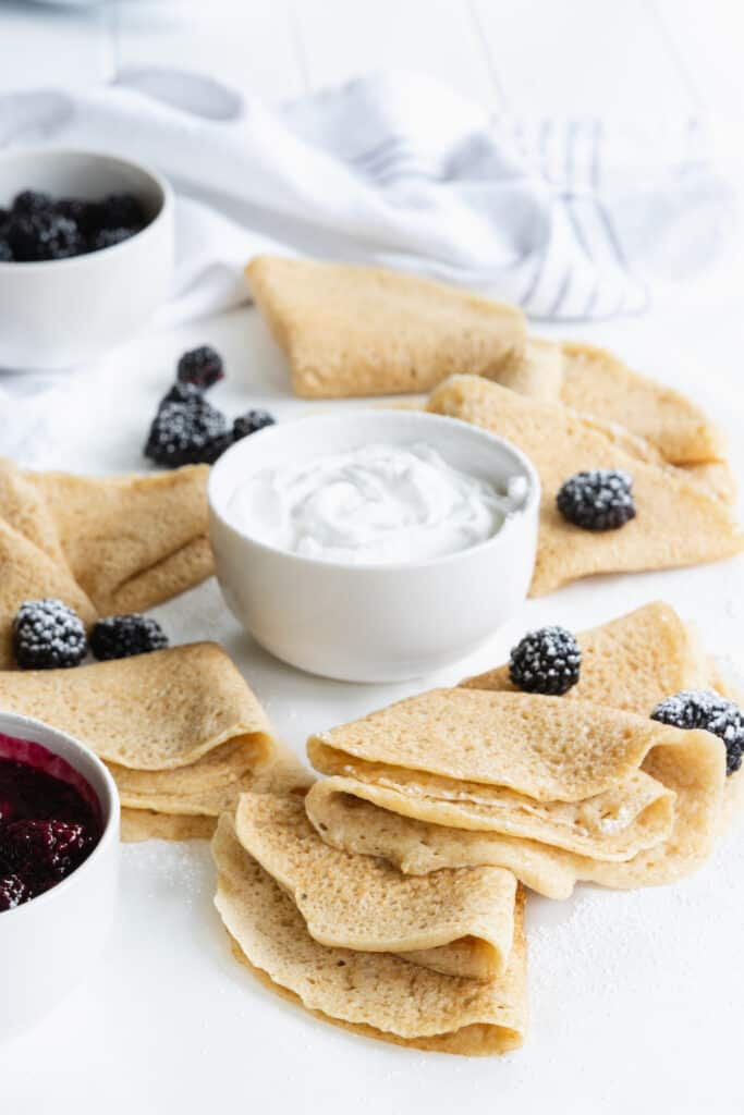 Crepes with Lemon Cream Cheese Filling