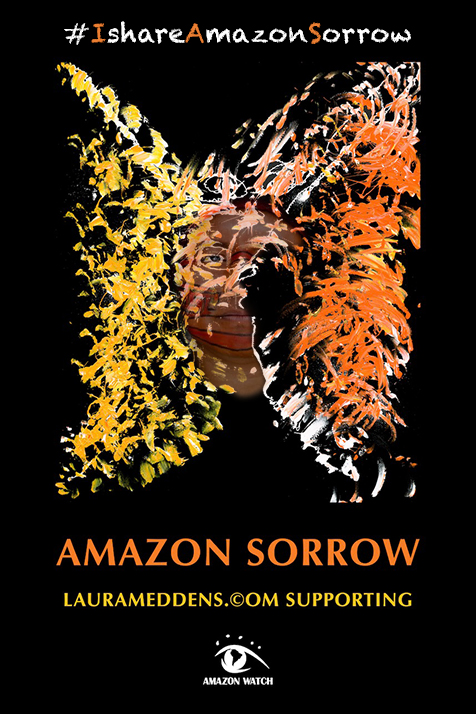 A face starts to appear in the Amazon Sorrow poster.