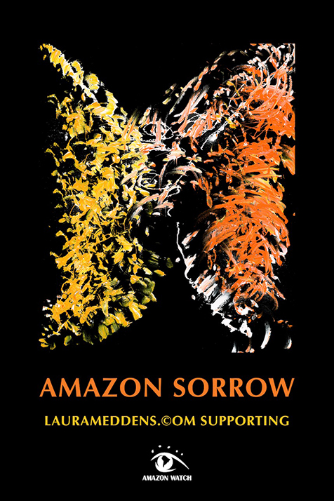 Amazon Sorrow poster in support of AmazonWatch.org.