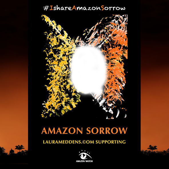 Amazon Sorrow headdress framing for Twitter. Click to enlarge and download.