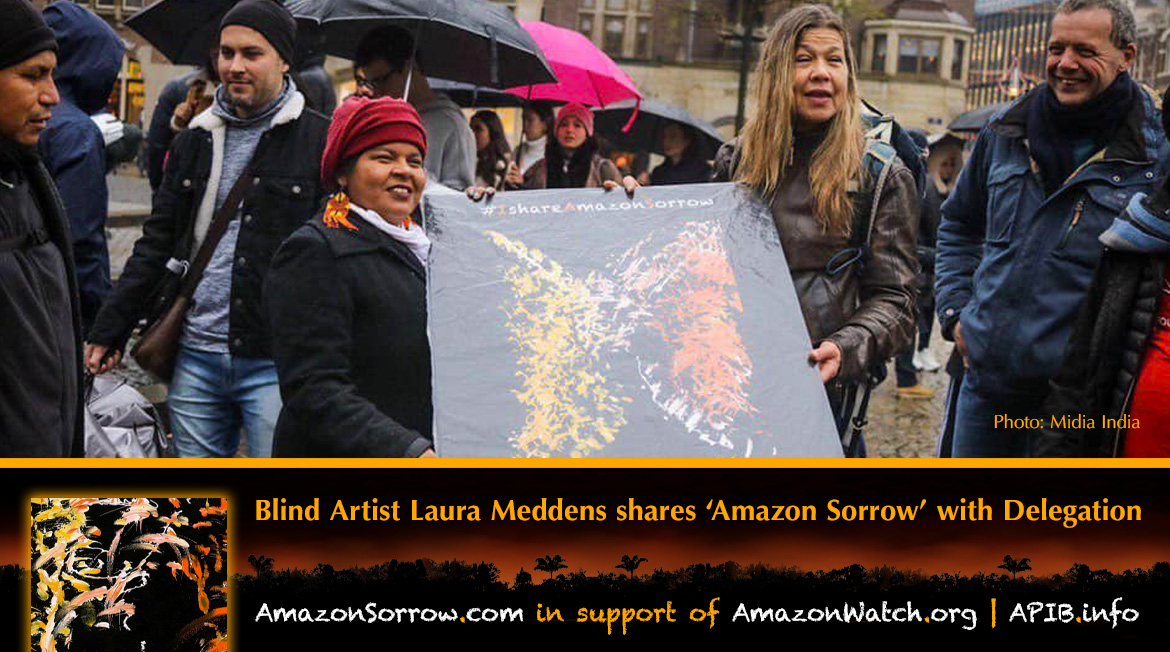"""Blind artist Laura Meddens shares """"Amazon Sorrow"""" with Delegration. AmazonSorrow.com 