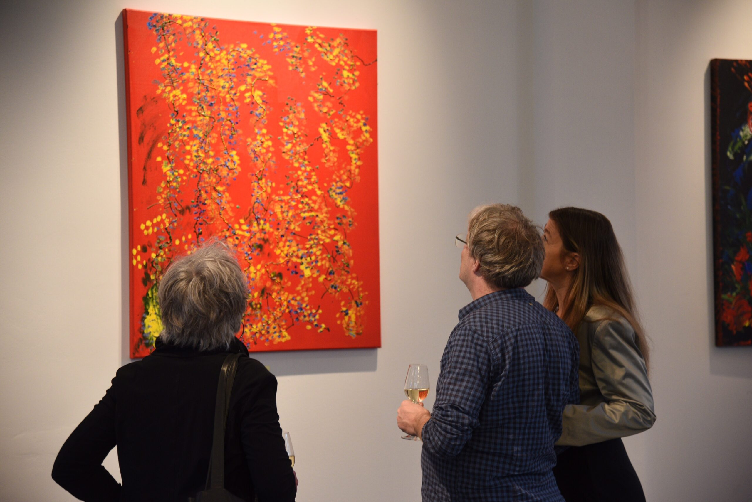 Laura Meddens provides a tour of her paintings at Parc Broekhuizen.