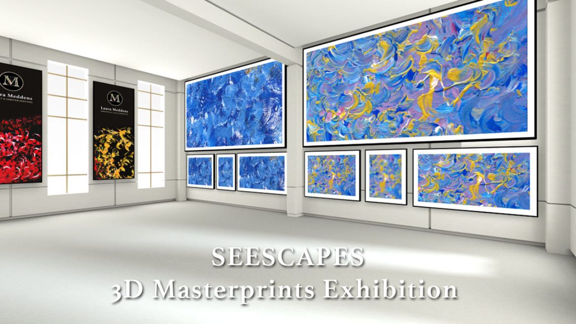 A view from another part of the SEESCAPES Exhibition virtual online gallery.