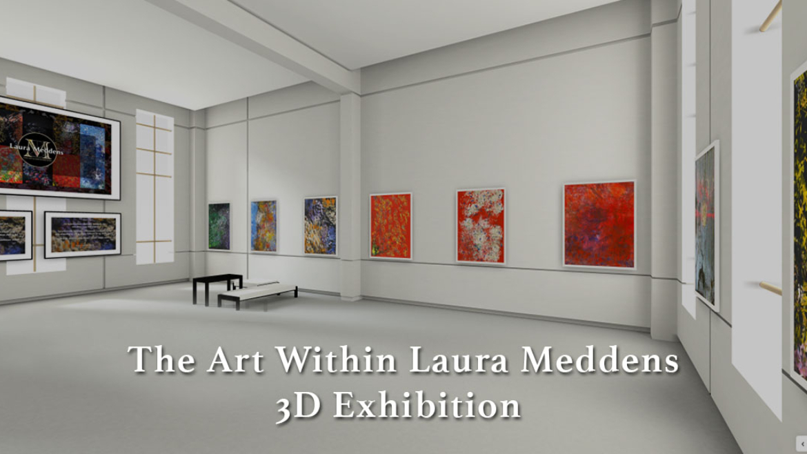 The Art Within Laura Meddens - 3D Exhibition  screenshot of virtual gallery.
