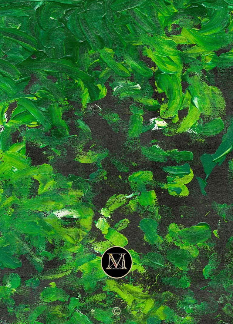 THE GREEN ONE HD. A high definition scan zooms in on the painting to showcase its detail.