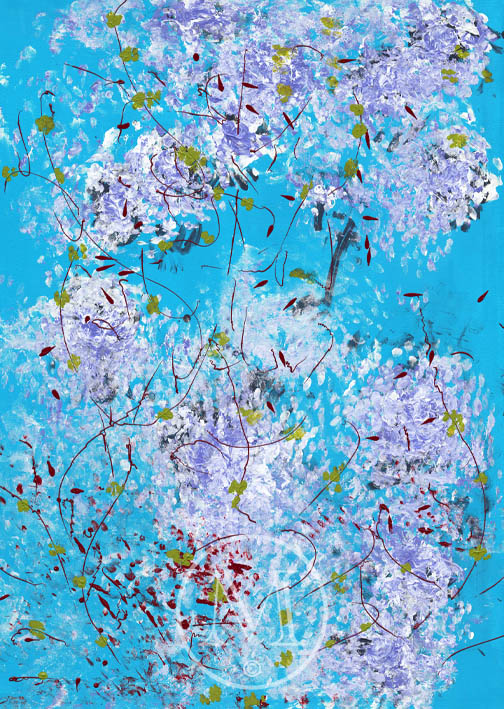 Image of Laura Meddens painting Sea Blossoms.