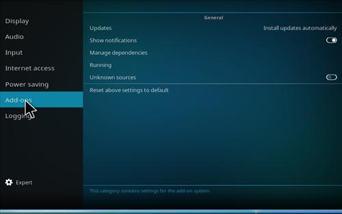 How To Enable Unknown Sources in KODI 17 Krypton step 4