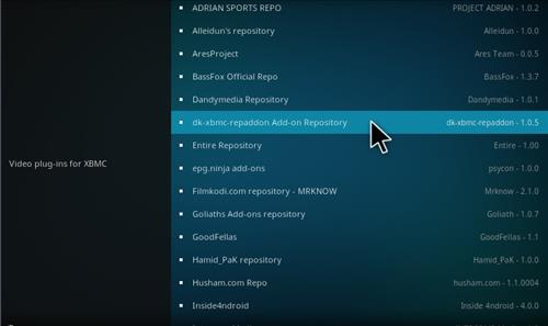 How to Install dk-xbmc-repaddon Add-on Repository step 17