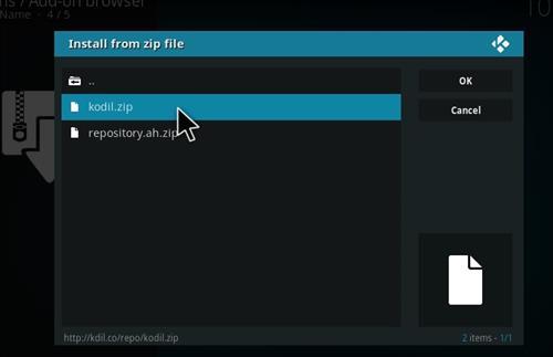 How to Install Kodil Repository Kodi 17 Krypton step 12