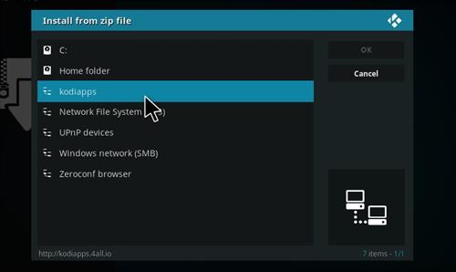 How to Install One4all Add-on Repository Kodi 17 Krypton step 11