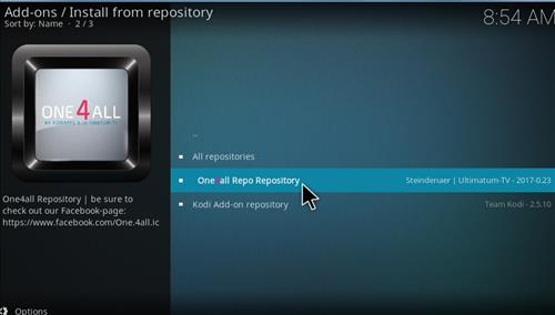 How to Install One4all Add-on Repository Kodi 17 Krypton step 16