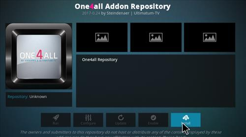 How to Install One4all Add-on Repository Kodi 17 Krypton step 19