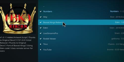 How to Install Boxset Kings Reborn Kodi Add-on with Screenshots step 17