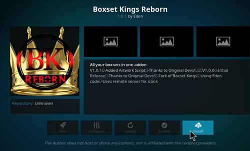 How to Install Boxset Kings Reborn Kodi Add-on with Screenshots step 18
