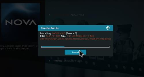 How to Install Nova Kodi Build with Screenshots step 21