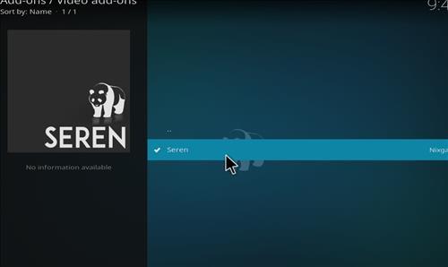 How to Install Seren Kodi Add-on with Screenshots step 17